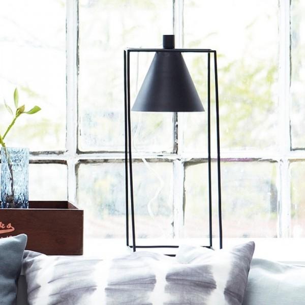 house doctor kubix lampe de table vintage metal noir cb0690. Black Bedroom Furniture Sets. Home Design Ideas