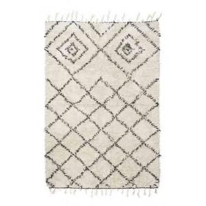 house doctor kuba tapis blanc et noir coton Rm0020-140x200