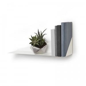 etagere murale metal blanc pliage umbra stealth shelf 472006-660
