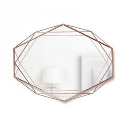 Miroir mural graphique géometrique métal cuivré Umbra Prisma