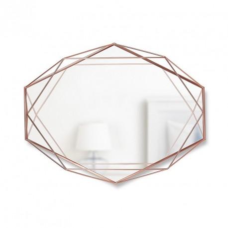 miroir mural graphique geometrique metal cuivre umbra prisma 358776-880