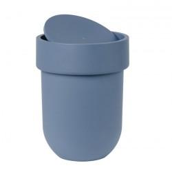poubelle avec couvercle bleu gris umbra touch 023269-755
