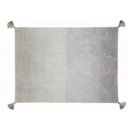 Tapis en coton degradé gris lavable en machine Lorena Canals 120 x 160 cm