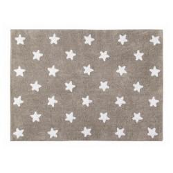 Tapis enfant étoiles beige blanc coton Lorena Canals 120 x 160 cm