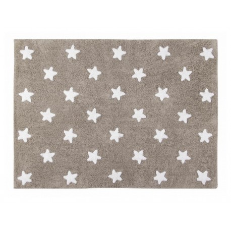tapis enfant etoiles beige blanc coton lorena canals 120 x 160 cm