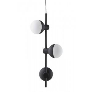 suspension frandsen 3 spots fabian vertical noir mat