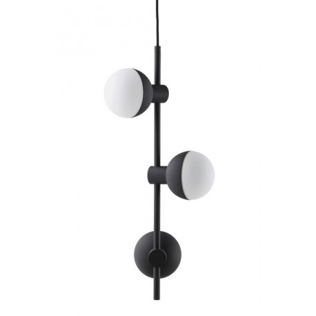 suspension frandsen 3 spots fabian vertical noir mat