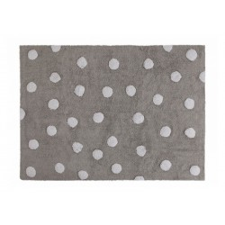 tapis enfant rectangulaire gris points blancs lorena canals 120 x 160 cm
