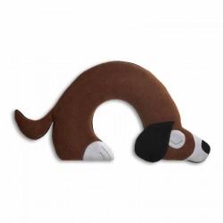 Coussin chauffant nuque cervicales chien Bobby The Dog marron Leschi