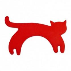 Bouillotte coussin micro-ondes pour la nuque chat Leschi Minima The Cat rouge et noir