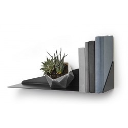 etagere murale metal noir geometrique umbra stealth 472006-040
