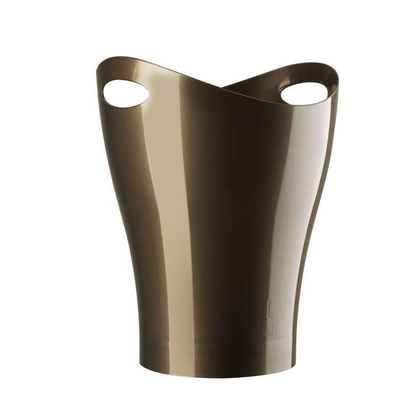 umbra garbino 082857 125 poubelle de bureau design bronze. Black Bedroom Furniture Sets. Home Design Ideas
