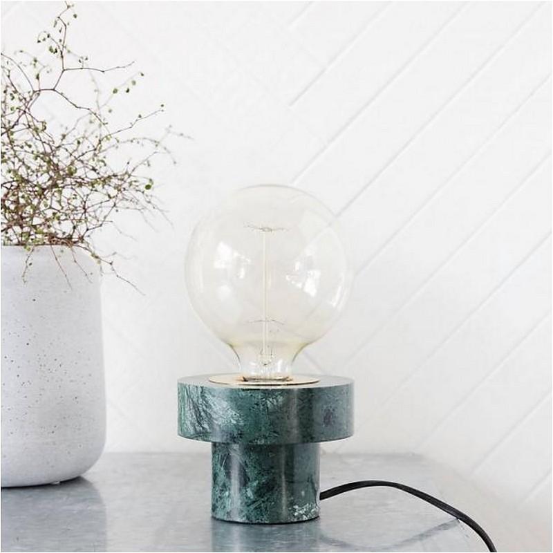 lampe de table marbre vert house doctor pin cl0952. Black Bedroom Furniture Sets. Home Design Ideas