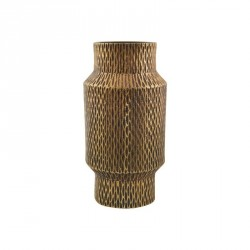 Vase métal doré aluminium House Doctor Cast
