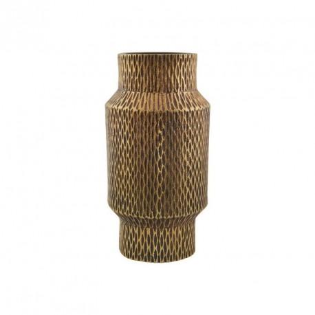 vase metal dore aluminium house doctor cast h 16 cm
