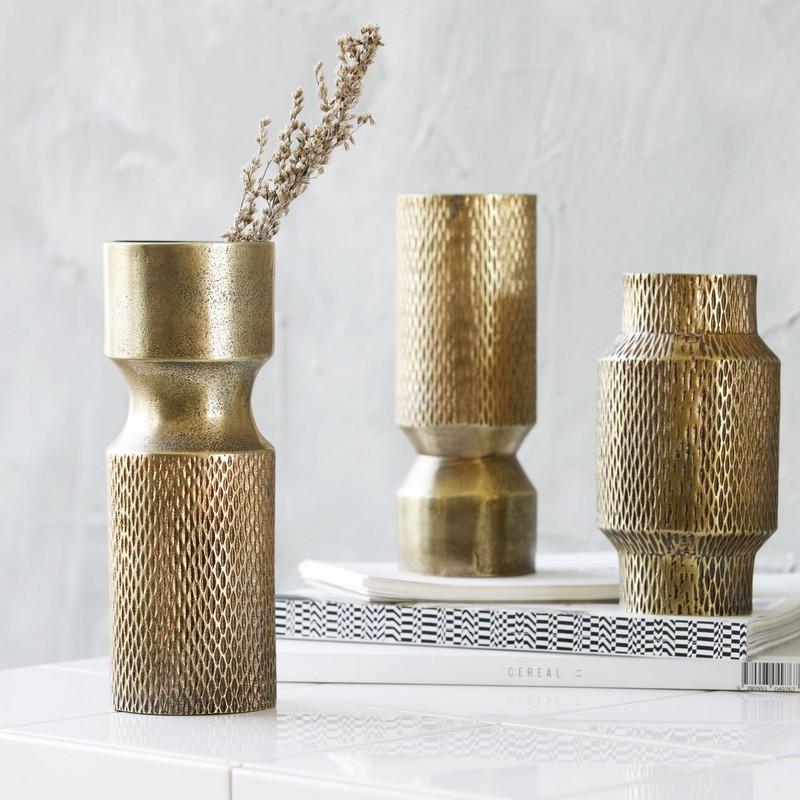 house doctor cast vase dore aluminium h 18 cm. Black Bedroom Furniture Sets. Home Design Ideas