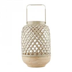 lanterne decoration scandinave bois de bambou house doctor breeze beige