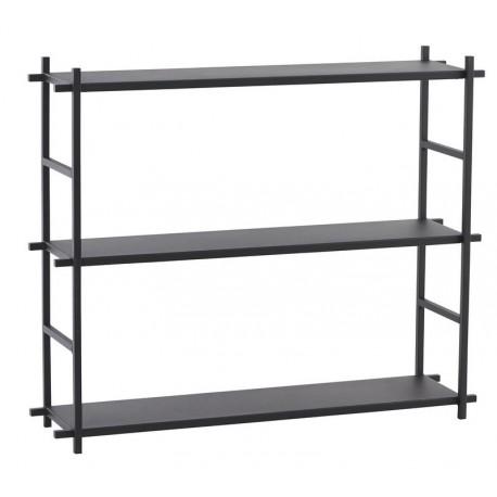 Etagère métal noir style industriel scandinave House Doctor Simple Shelf