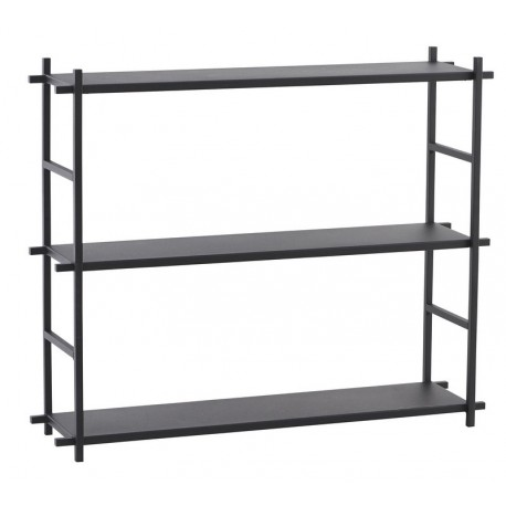 etagere metal noir style industriel scandinave house doctor simple shelf Pj0053