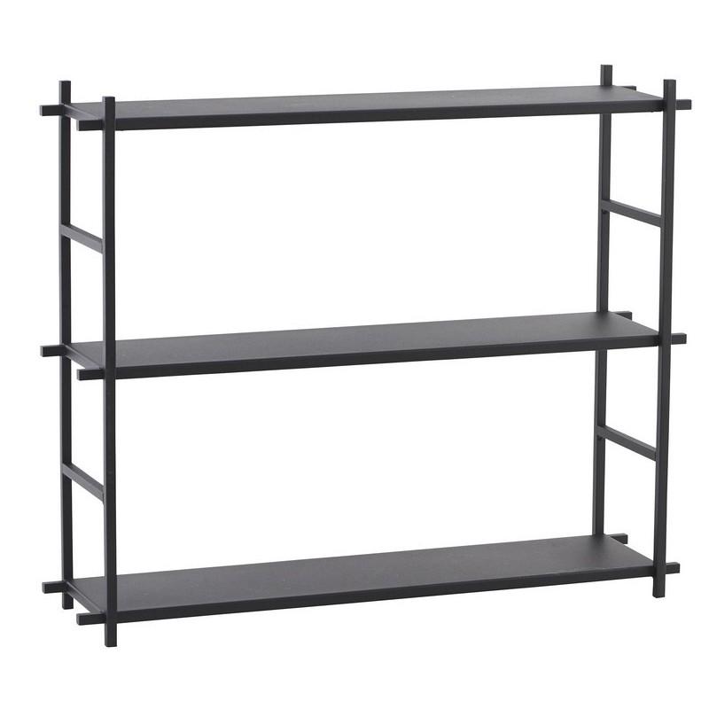 etagere metal noir style industriel scandinave house doctor simple shelf pj0053. Black Bedroom Furniture Sets. Home Design Ideas