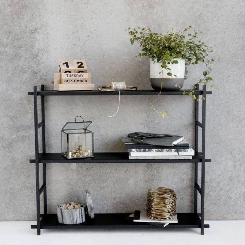 etagere metal noir style industriel scandinave house doctor simple shelf pj0053. Black Bedroom Furniture Sets. Home Design Ideas