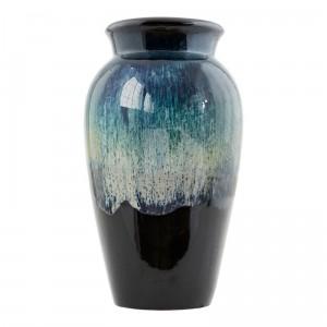 Vase céramique House Doctor Antique reflets vert noir H 35 cm
