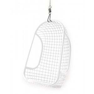 hk living fauteuil suspendu blanc rotin RAT0001