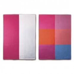Torchons de cuisine couleur design remember (set de 2)