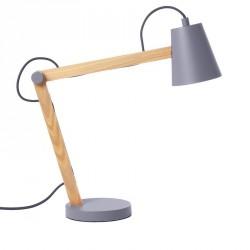 lampe de bureau en bois naturel play frandsen metal gris