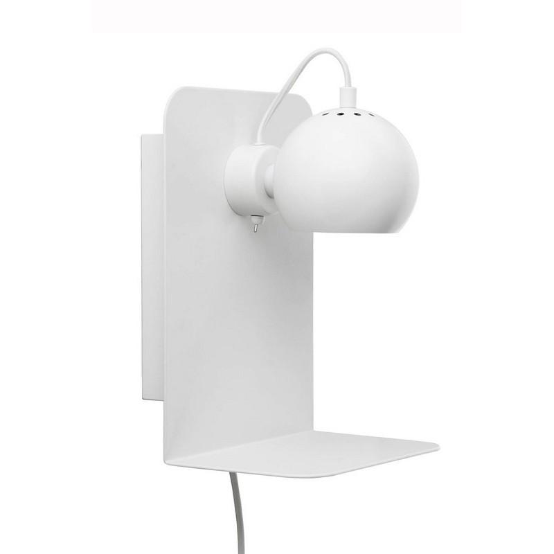 frandsen ball applique murale liseuse avec tablette et. Black Bedroom Furniture Sets. Home Design Ideas