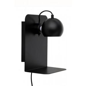 applique murale liseuse avec tablette et port usb metal noir frandsen ball