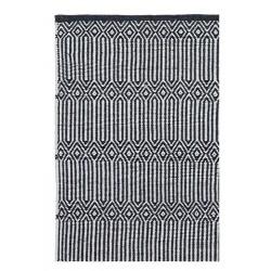 tapis scandinave noir et blanc braid liv interior 55 x 120 cm
