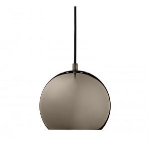 Suspension boule rétro noir chromé Frandsen Ball D 25 cm