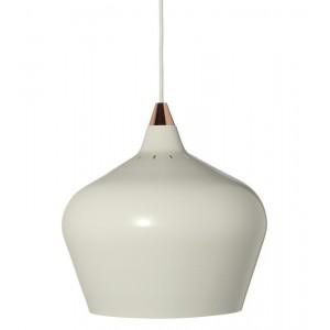 suspension conique design scandinave blanc mat frandsen cohen xl d 32 cm