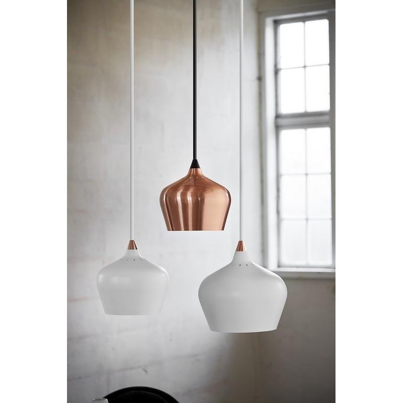 suspension conique design scandinave blanc mat frandsen. Black Bedroom Furniture Sets. Home Design Ideas