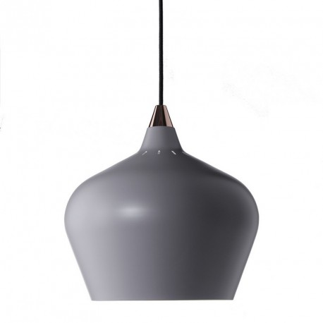 suspension grise conique design scandinave frandsen cohen xl d 32 cm