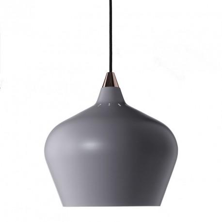 suspension grise conique design scandinave frandsen cohen xl d 32 cm