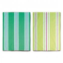 Torchon cuisine vert design remember (set de 2)