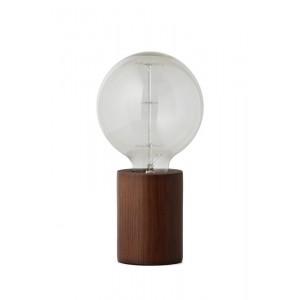 lampe a poser minimaliste bois de noyer frandsen bristol
