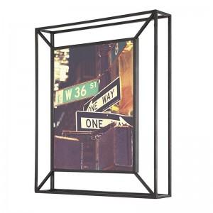 cadre photo metal noir a poser ou a suspendre umbra matrix 311118-040