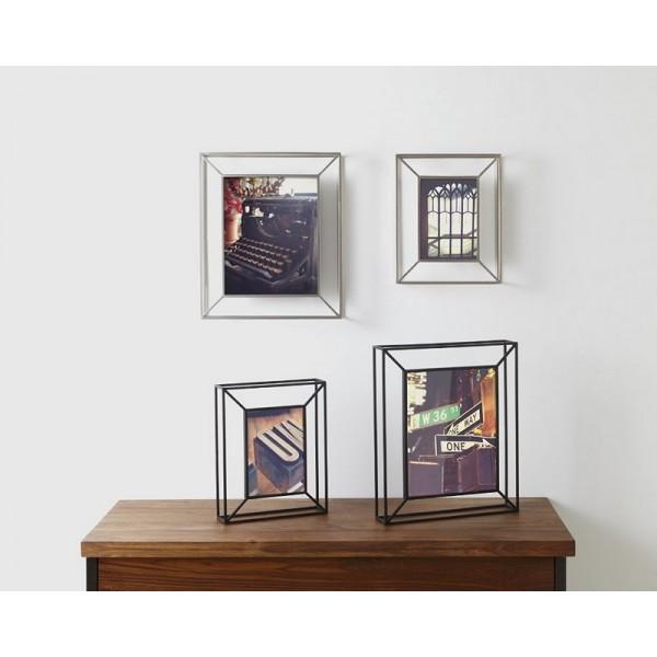 cadre photo metal noir a poser ou a suspendre umbra matrix 311118