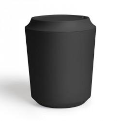 Poubelle salle de bains épurée design noire Umbra Kera Corsa