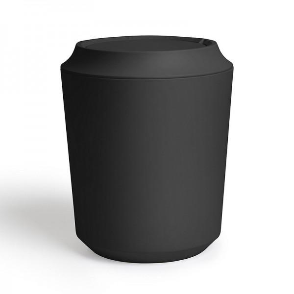 poubelle salle de bains epuree design noire umbra kera corsa 1005487 040. Black Bedroom Furniture Sets. Home Design Ideas