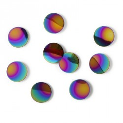 Décoration murale pastilles métal multicolore Confetti Dots Rainbow (set de 10)