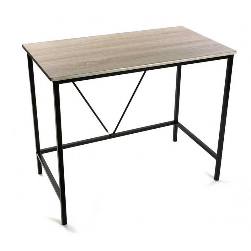 petit bureau informatique bois metal versa 90 cm kdesign. Black Bedroom Furniture Sets. Home Design Ideas