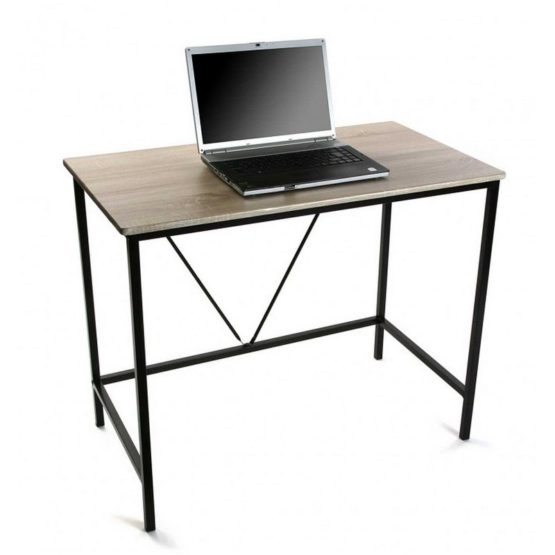 petit bureau informatique bois metal versa 90 cm. Black Bedroom Furniture Sets. Home Design Ideas