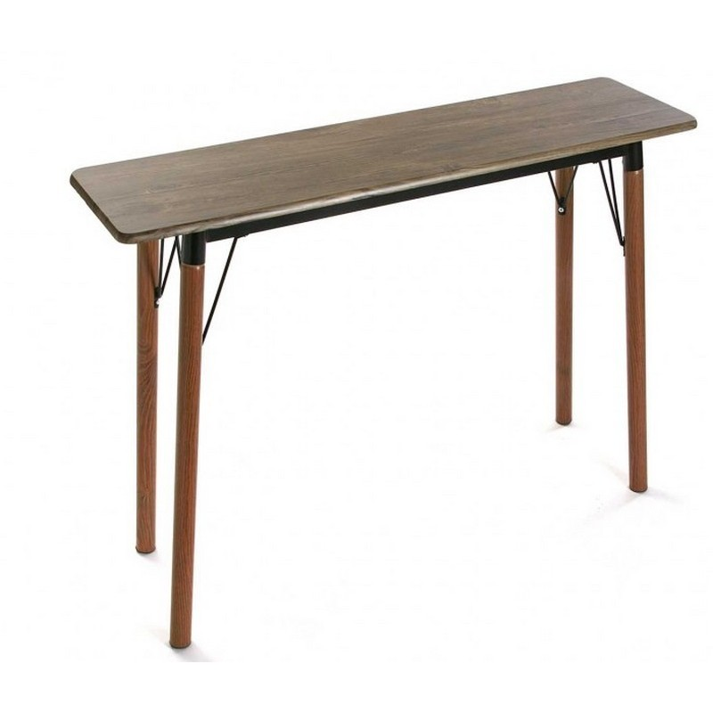 table console d entree epuree bois metal noir versa lansing 20880056. Black Bedroom Furniture Sets. Home Design Ideas