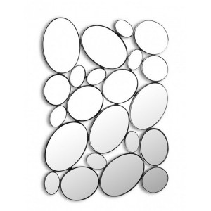 multi miroir mural metal bulles versa 20590001