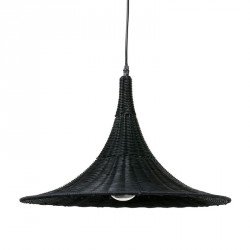 suspension en osier tresse noir hk living trumpet VOL5002