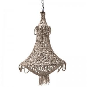 suspension style oriental en corde crochet artisanale hk living
